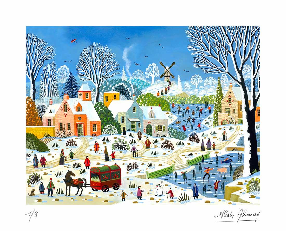 Paysage hivernal au moulin