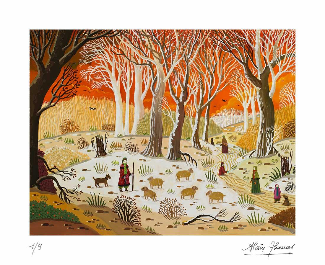 Paysage hivernal au berger